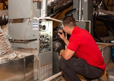 inspecting HVAC